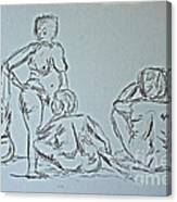 Sketch Class Canvas Print