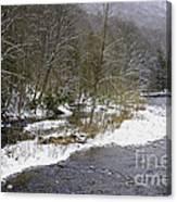 Spring Snow Williams River  Canvas Print