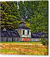 5 Star Barn Paint Filter Canvas Print