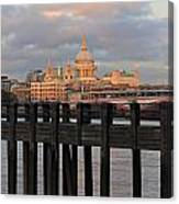 Sunset Over St Pauls Cathedral London Canvas Print