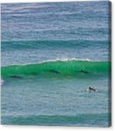 5 Surfers Canvas Print