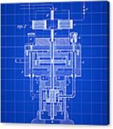 Tesla Electric Generator Patent 1894 - Blue Canvas Print
