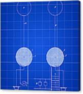 Tesla Electric Transmission Patent 1900 - Blue Canvas Print