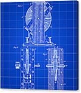 Tesla Electro Magnetic Motor Patent 1889 - Blue Canvas Print