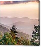 The Simple Layers Of The Smokies At Sunset - Smoky Mountain Nat. Canvas Print