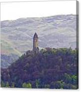 View Of Wallace Monument From The Heights Of The Stirling Castle Canvas Print