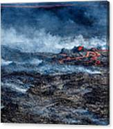Volcano Eruption At The Holuhraun Canvas Print
