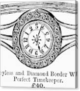 Watch Bracelet, 1891 Canvas Print