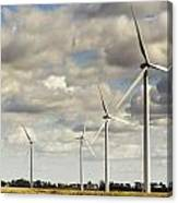 Wind Powered Electric Turbine Canvas Print