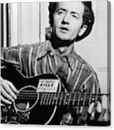 Woody Guthrie (1912-1967) Canvas Print