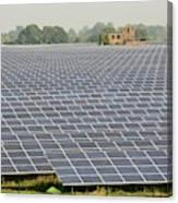 Wymeswold Solar Farm Canvas Print