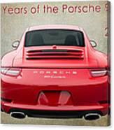 50 Years Of The Porsche 911 E182 Canvas Print