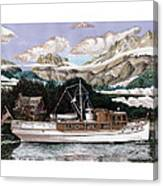 North To Alaska On A 53 Foot Classic Yacht  Canvas Print