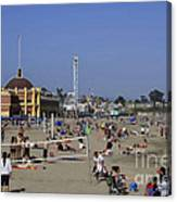 558 Pr Santa Cruz Main Beach Canvas Print