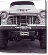 56 Chevy Truck In Bw Canvas Print