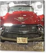 56 Red Cadillac Canvas Print