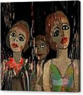 562 - Three Young Girls   Canvas Print