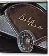 57 Chevy Bel Air Dash Canvas Print