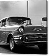 57 Chevy Bel-aire In Bw Canvas Print