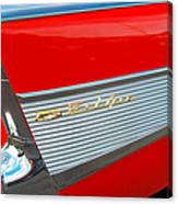 57 Chevy Tail Fin Canvas Print