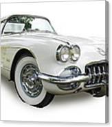 59-60 Corvette White On White Canvas Print