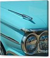 59 Pontiac Catalina Hood Ornament Canvas Print