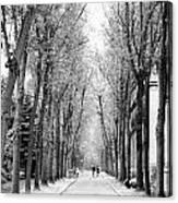 Pere-lachais Cemetery In Paris France Canvas Print