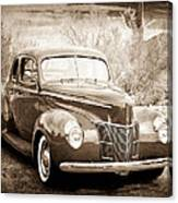 1940 Ford Deluxe Coupe Canvas Print