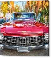 1960 Cadillac Eldorado Biarritz Convertible Painted  Canvas Print