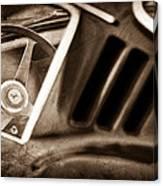 1966 Ferrari 275 Gtb Steering Wheel Emblem Canvas Print