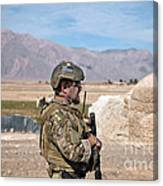 A Coalition Force Member Maintains Canvas Print