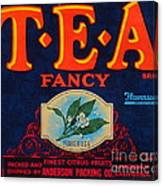 Antique Food Packaging Label. Canvas Print