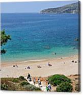Beach In Legrena Canvas Print