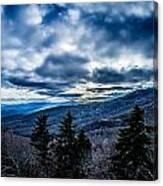 Blue Ridge Parkway Winter Scenes In February Canvas Print