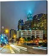 Charlotte City Skyline  Canvas Print