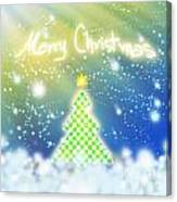 Chess Style Christmas Tree Canvas Print
