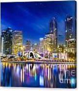 City Town At Night Canvas Print