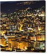 Cityscape At Night Canvas Print