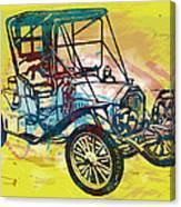 Classical Car Stylized Pop Art Poster Canvas Print