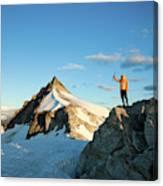 Climbing Cypress Peak Canvas Print