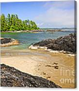 Coast Of Pacific Ocean On Vancouver Island Canvas Print