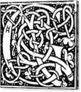 Decorative Initial G Canvas Print