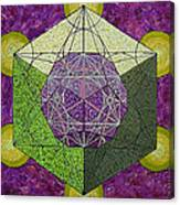 Dodecahedron In A Metatron's Cube Canvas Print