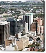 Downtown Skyline Of Wilmington Canvas Print