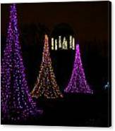 Festival Of Lights - Christmas At The Botanical Gardens Canvas Print