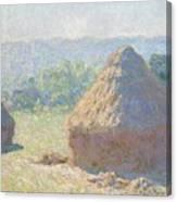 Haystacks Canvas Print