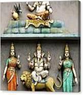 Hindu Temple With Indian Gods Kuala Lumpur Malaysia Canvas Print