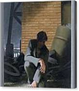 6. Jesus Prays Alone / From The Passion Of Christ - A Gay Vision Canvas Print