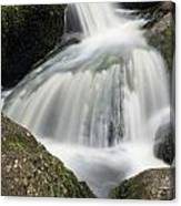 Landscape Of Becky Falls Waterfall In Dartmoor National Park Eng Canvas Print