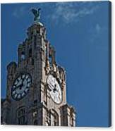 Liverpool's World Heritage Status Waterfront Buildings Canvas Print
